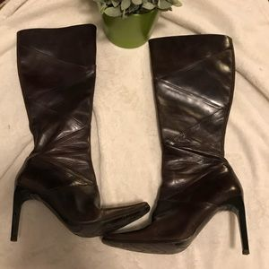 Aldo dark brown leather boots